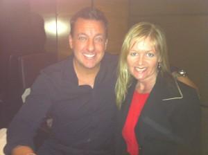 Dinner with Aaron Garrity CEO XanGo. Aaron is health crazed, a big-time athlete himself!